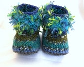 Furry Infant Booties - Baby Mukluk Boots - Baby Boot Socks - Infant Crib Shoes