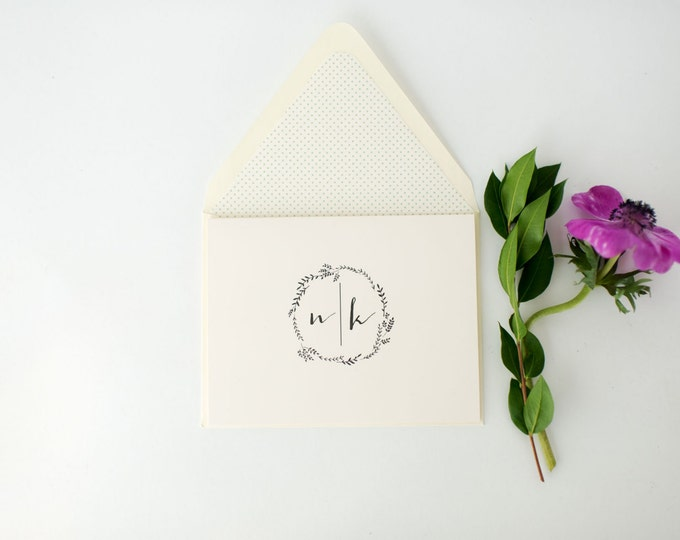 ruby personalized thank you cards +  lined envelopes (sets of 10) // wedding thank you cards // lola louie paperie