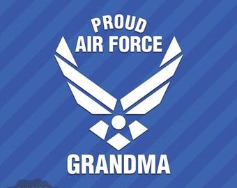 Proud Air Force Grandma Vinyl Decal Sticker