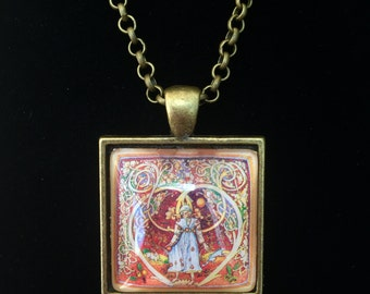 Virgo Postage Stamp Necklace