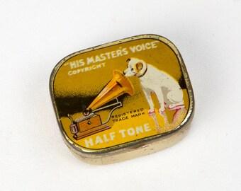 His Master's Voice Gramophone Needle Tin - Half Tone needles