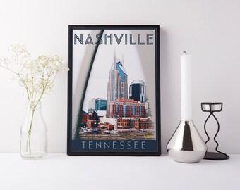 Print - Nashville, TN - Digital Art