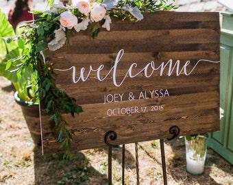 wedding welcome sign etsy. Black Bedroom Furniture Sets. Home Design Ideas