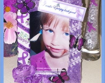 Epilepsy Awareness Picture Photo Frame Very Sparkly!