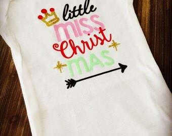 Little Miss Christmas Onesie First Christmas Outfit