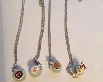 Cup of Coffee Necklaces!
