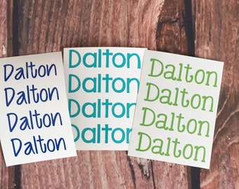 Name Decal/ /Vinyl Name Label//Vinyl Name Sticker Sheet//Name Decal Sheet//Custom Vinyl Name Labels//Custom Name Stickers//Back to School