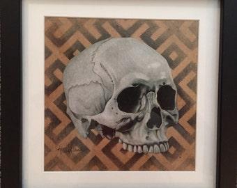 Skull High Resolution Framed Print