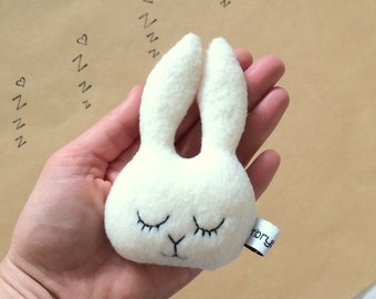 Baby toddler toys etsy au easter bunny rabbit baby rattle soft toy baby gift baby shower negle Image collections