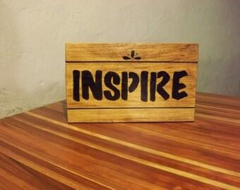 Inspire Wooden Sign
