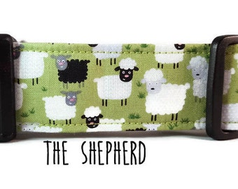 Boy Dog Collar - Girl Dog Collar - Sheep Dog Collar - Herding Dog Collar - The Shepherd - (Standard, Metal Buckle, or Martingale)