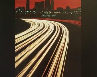 1984 Los Angeles Skyline - Original Vintage Poster