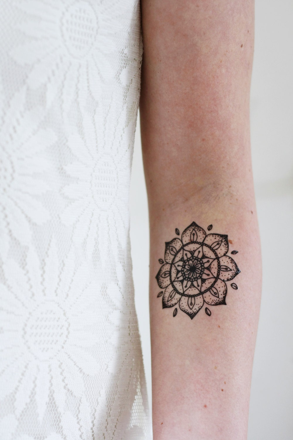mandala temporary tattoo bohemian temporary tattoo boho. Black Bedroom Furniture Sets. Home Design Ideas