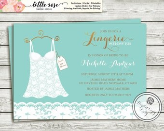 Bridal Shower Lingerie Party Invitation - Lingerie Shower - Bachelorette Party Invite - Lace Invitation - Printable -LR1021