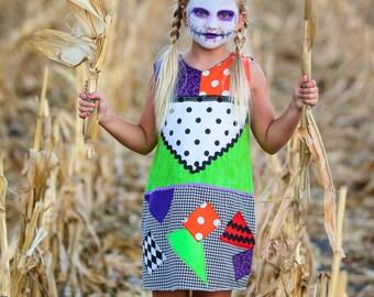 Sally Costume Nightmare before Christmas, Sally Dress for Girls, Nightmare Sally Halloween Costume, Nightmare Sally Dress