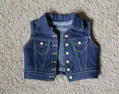"18 Inch Doll Denim Vest - American Made 18 Inch Doll Clothes - 18"" Doll Jean Jacket - Western Doll Vest -Modern Doll Clothing"
