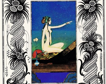 Kay Nielsen Arabian Nights vintage illustration folk tale fairy tale fine art print home decor 8.5x11 inches