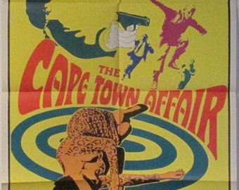 """1967 The Cape Town Affair Movie Poster Folded 27"""" x 41"""""""