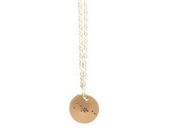 Taurus, Taurus Necklace, Constellation Necklace, Zodiac Necklace