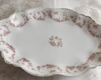 Bridal Rose - MZ Austria fine antique china serving dish - Bridal Rose  - shabby chic  - traditional wedding gift