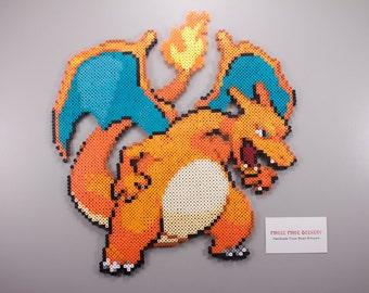 Perler Bead | Artkal Bead | Fuse Bead Sprite | Pixel Art | Charizard | Inspired by Pokemon