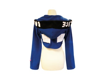 TARDIS inspired cosplay shrug for Doctor Who fans and Whovian