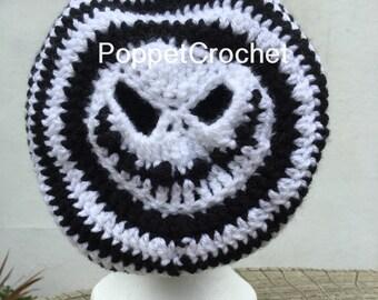 Jack Skellington Slouchy crocheted hat
