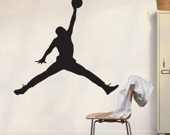 Michael Jordan Wall Decal Art Decor Sticker Bulls Decal Jumpman Decal michael jordan decal stickers jordan decal michael jordan poster