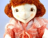 Interior Handmade Soft Doll Ann with Aromatic Herbs inside / Author Doll / Good Gift / New Trends / Embroidered details