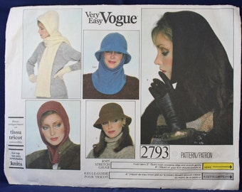 1980's Sewing Pattern for a Woman's Set of Hoods and Hats - Vogue 2793