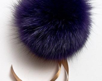 Real Fur Pom Pom Hat Fox Fur Pompom Fur Pompom Large Pom Poms Fur Ball Fox 48 COLORS