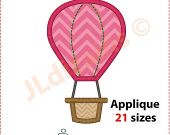 Hot Air Balloon Applique Design. Hot air balloon embroidery design Embroidery hot air balloon Applique air balloon Machine embroidery design