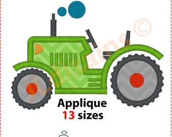 Tractor Applique Design. Tractor embroidery design. Embroidery tractor. Applique tractor Embroidery design tractor Machine embroidery design