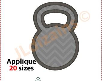 Kettlebell Applique Design. Kettlebell embroidery design. Embroidery design kettlebell. Applique kettlebell. Machine embroidery design