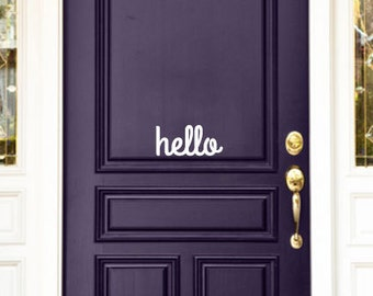 Front door decal Etsy