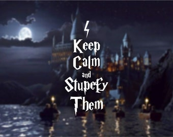Keep Calm & Stupefy Them Vinyl Decal, Harry Potter Inspired Decal, Car Decal, Window Decal, Laptop Decal