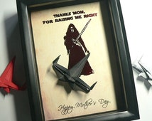 Mothers Day From Son, Alternative To A Mothers Day Card, Gift For Mom From Son, Birthday Gift For Mom. 5X7 Shadowbox Gift.