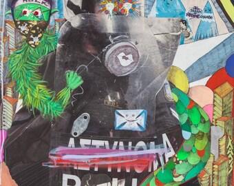 Hulk mix media street art digital print