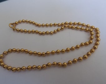 Vintage necklace neck beads ras gold plated