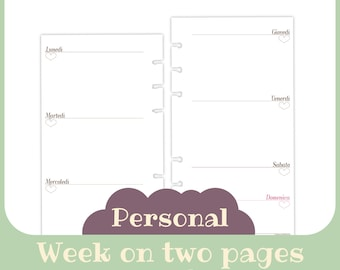 refill 1 week 2 pages undated Personal symple style - Printable -
