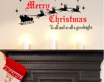 Christmas Wall Decorations christmas decal | etsy