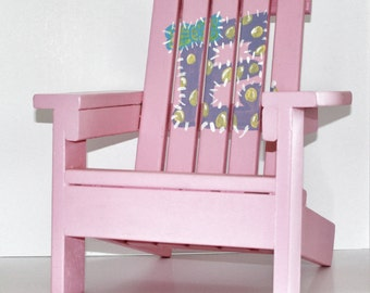Custom 18 inch Doll Adirondack Chair, Doll Chair, 18 inch Doll Furniture, Sized For American Girl, Doll Furniture