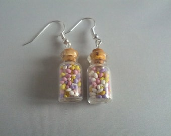 Jar of sugared almonds Earrings. *Free UK shipping*