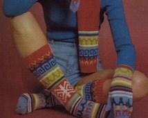 SOCKS Pattern Vintage 70s Boot Socks Pattern Mittens Pattern Hat Pattern Scarf Pattern Legwarmers Pattern
