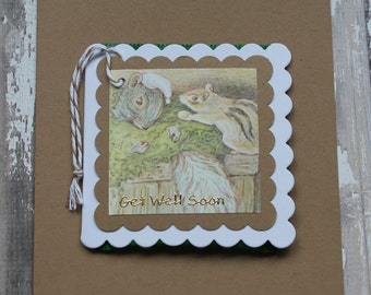 Beatrix Potter Get Well Teabag Card