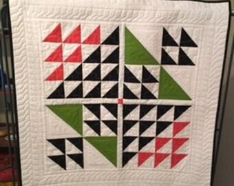 Baby quilt, modern baby quilt