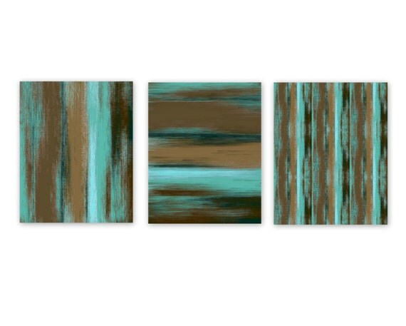 abstract wall art turquoise teal aqua brown instant download 3. Black Bedroom Furniture Sets. Home Design Ideas