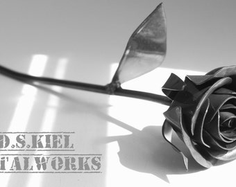 Metal Sweetheart Rose, Gift for Him, 11th Anniversary, Metal Rose, 6th Anniversary Gift, 4th Anniversary Gift, Forever