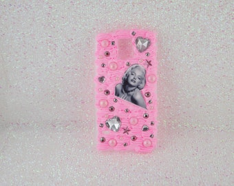 Samsung S5 Case, Marilyn Monroe Phone Case, Samsung S5 Decoden Phone Case, Decoden Phone Case, Decoden Case, Kawaii Case, Pink Phone Case