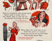 1946 Texcel Cellophane Tape Ad - Handy Household Helper - Dick Sargent Art - Vintage 1940s Home Improvement Ad